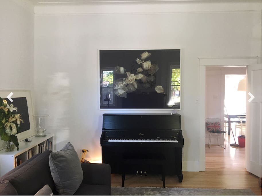 Piano in living