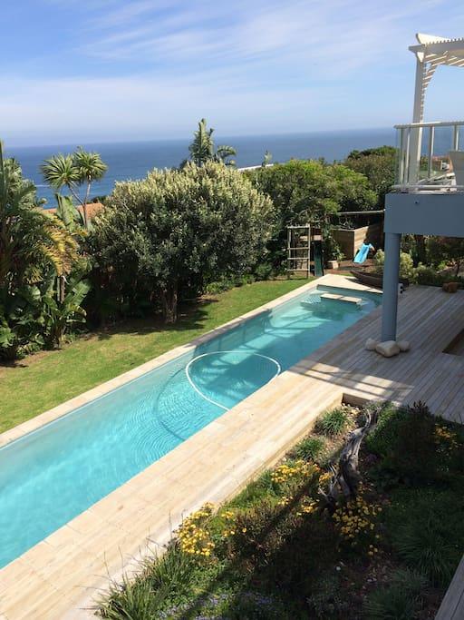 lap pool and views!