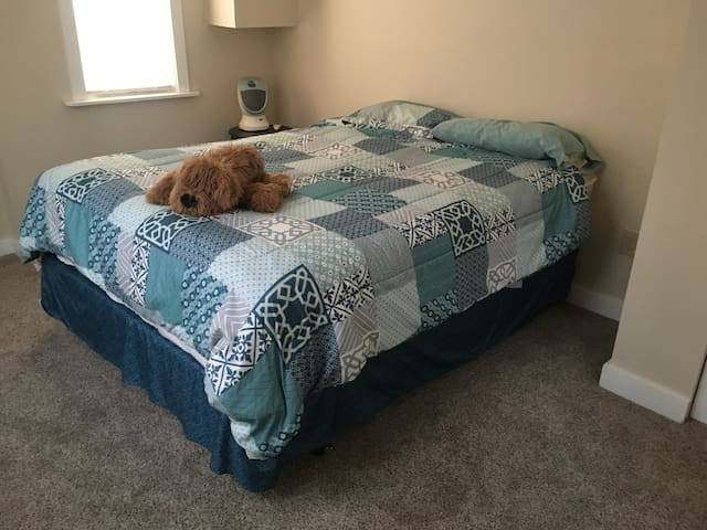 Queen size bed with luxury mattress