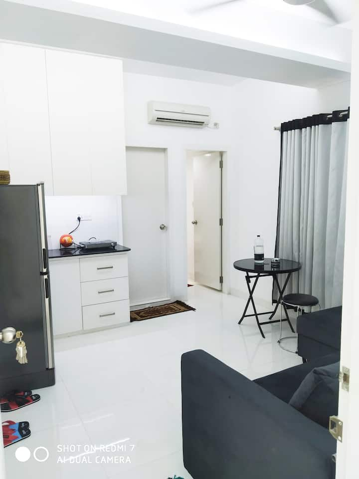 Studio apartment with living room