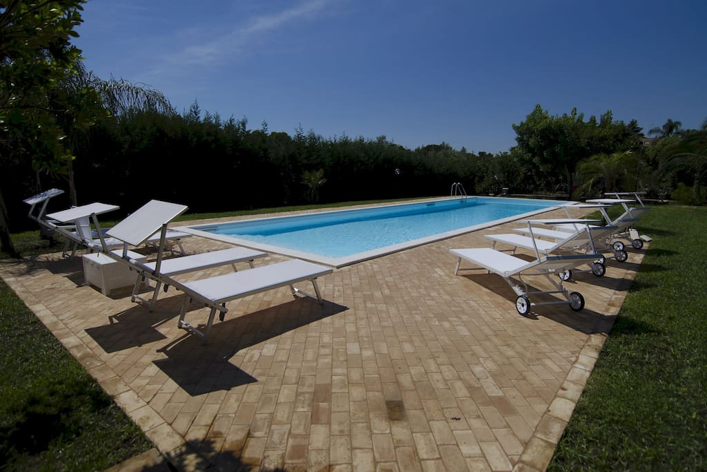 Salt water swimming pool - Villa Casale - exclusive SUNTRIPSICILY.COM
