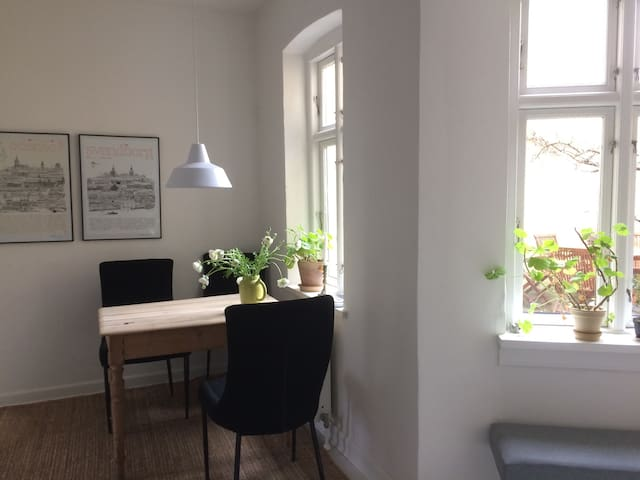 Bright apartment with lovely garden in the center - Odense - Apartment
