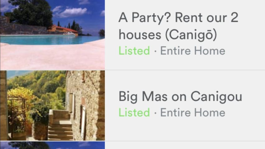 A Party? Rent our 2 houses (Canigō)