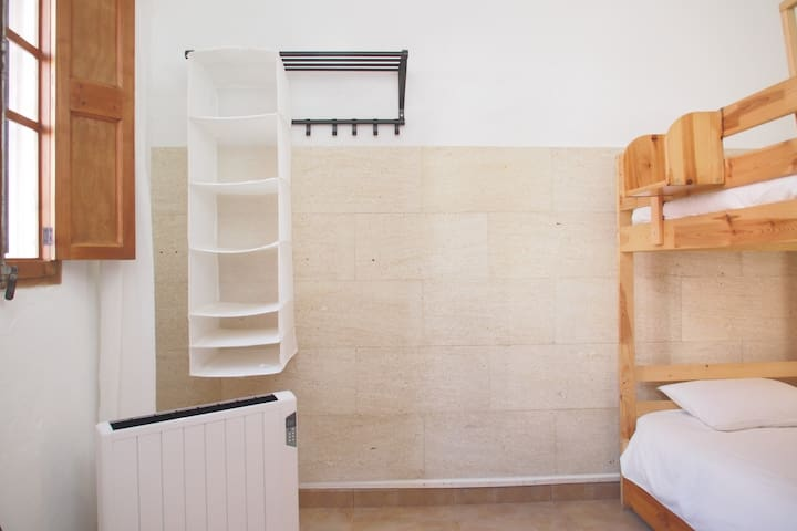 Bedroom 2. With bunk bed and trundle bed.