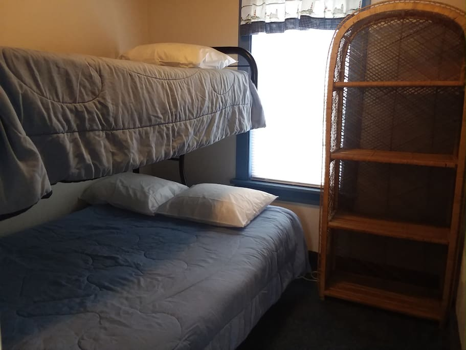 Bedroom #2 with Double & Twin Bunk