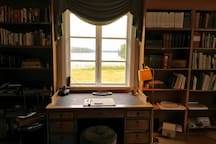 View of the lake from the library