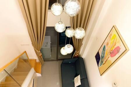 【星空里-东月】东莞市中心 全新Loft 复式温馨公寓 @可做饭@中心广场@下坝坊@可园@可开发票