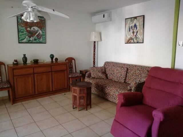 Le séjour avec le canapé Rapido