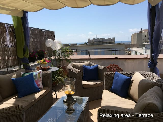 Penthouse Flat with large terrace and seaview - Vilanova i la Geltrú