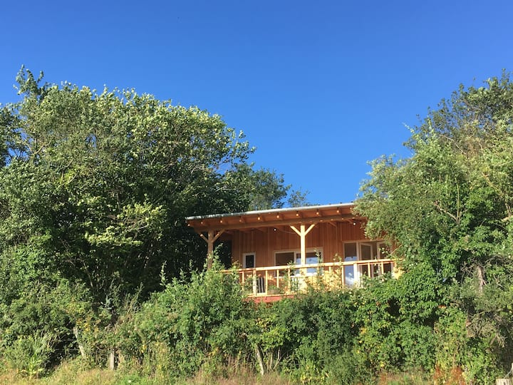 Cabane tout confort pour un séjour pleine nature