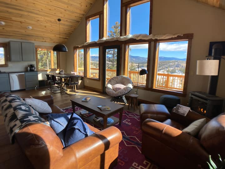 Secluded Modern Cabin On 10 Acres & Tarryall Creek