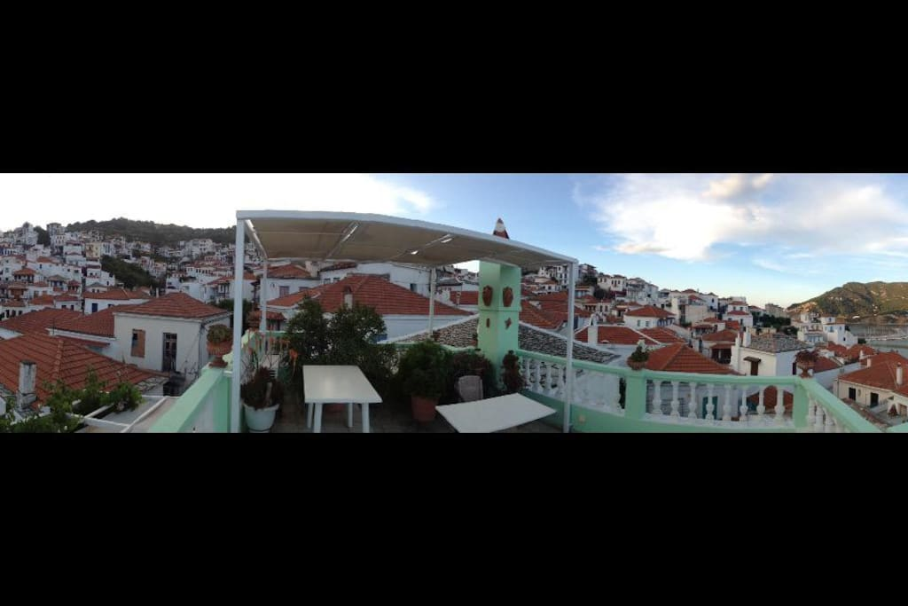 Panoramic back view from the terrace