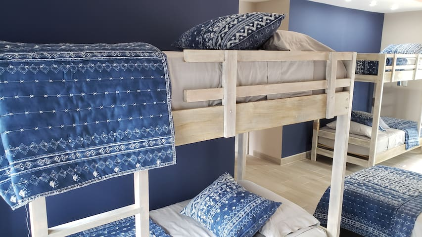 Custom wood bunks for a comfortable night's sleep