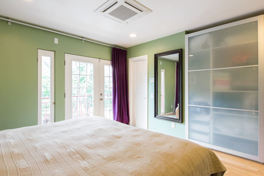 Sun-drenched Master Bedroom with large closet and Juliet balcony and en-suite bathroom