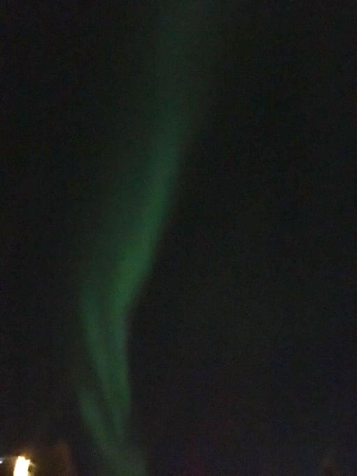 Northern lights right outside the terrace