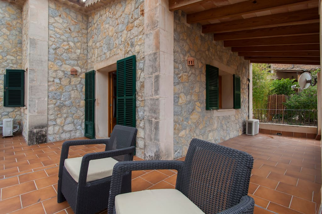 Relax in the sun or listen to the crickets at night from the 1st bedroom terrace.