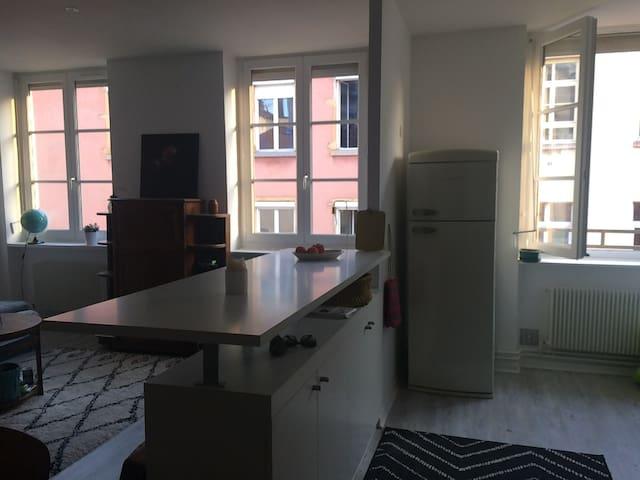 Beau & grand appartement ancien coeur croix-rousse - Lyon - Apartamento