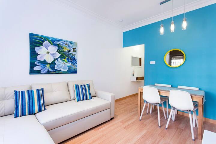 Lovely 3-bed close to the best beaches of BCN - Sant Adrià de Besòs