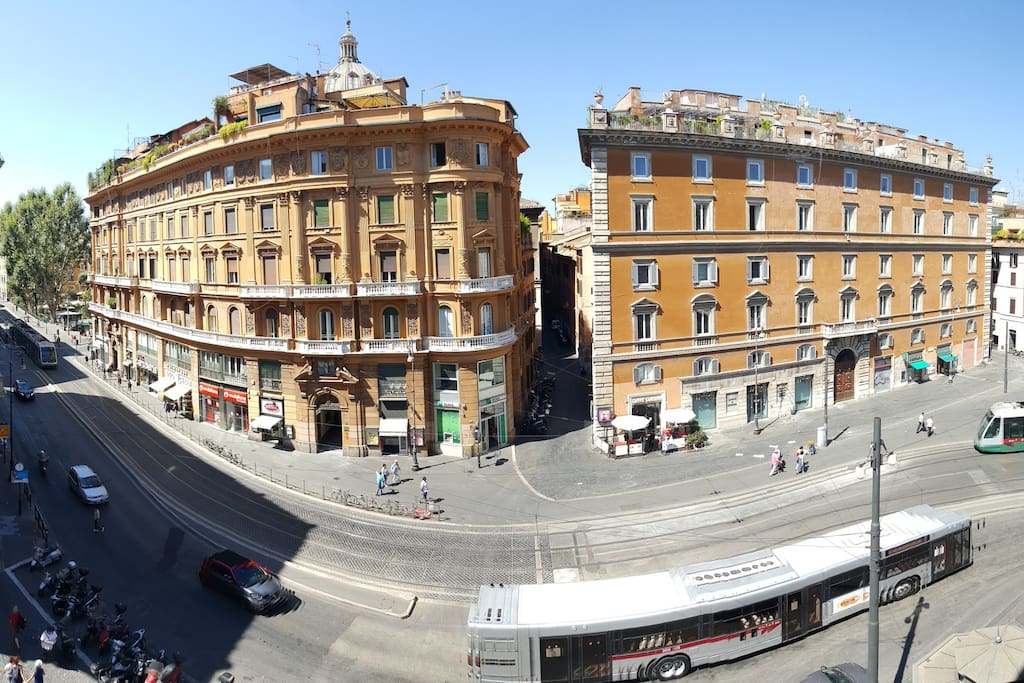 View from the window of Via / Largo Arenula