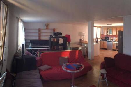 Grande chambre dans appartement 120m2 proche Paris - Montreuil