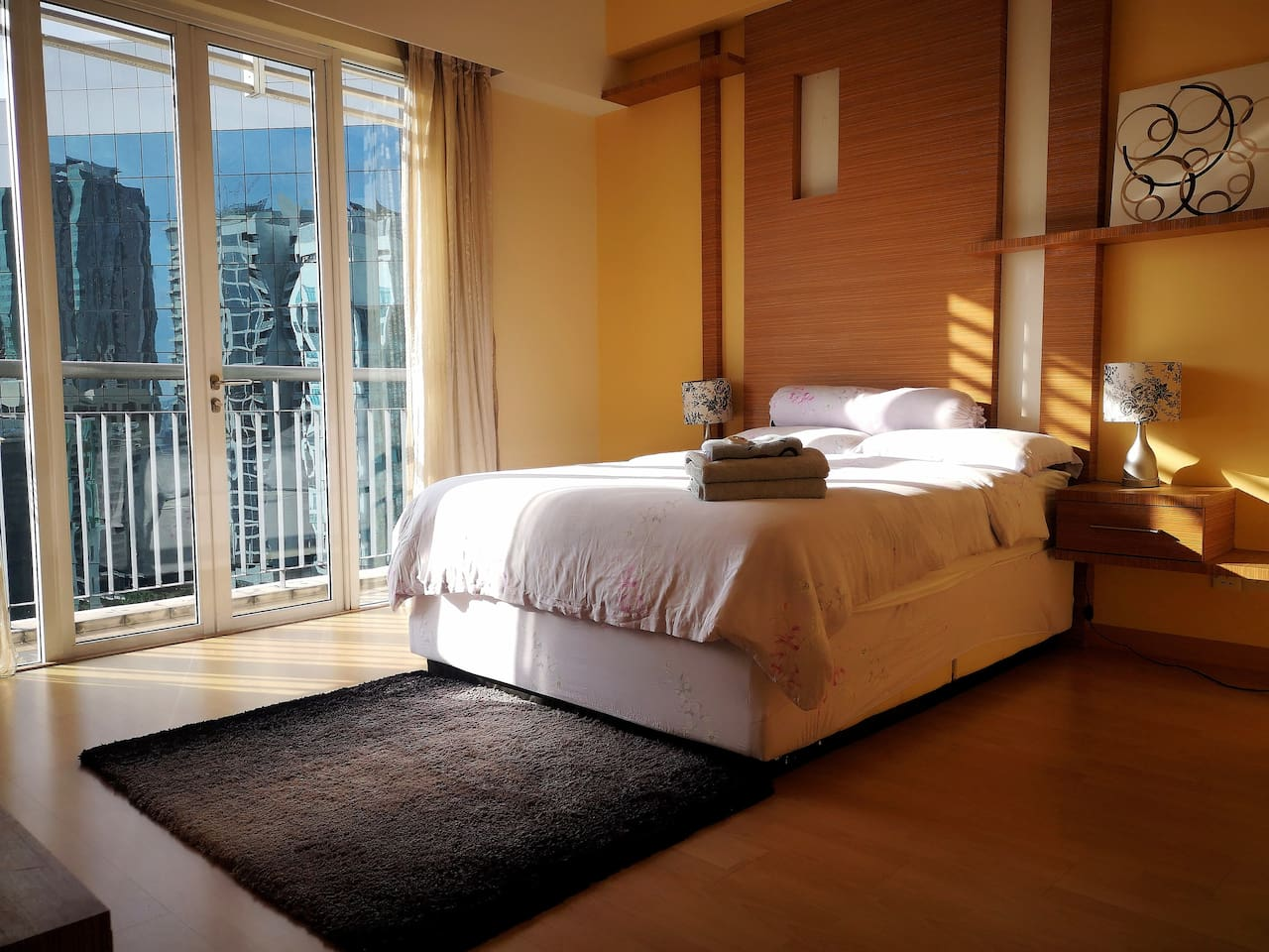 Master bedroom with balcony and KL Tower View :)