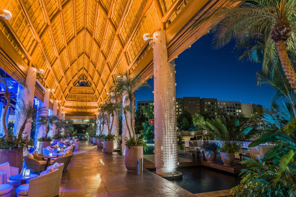 Captivating lights and decor can be found throughout the resort.