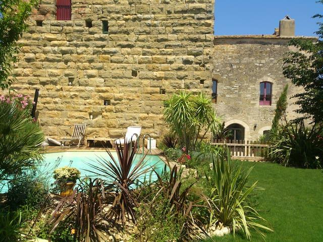 Château médiéval près d'Uzès