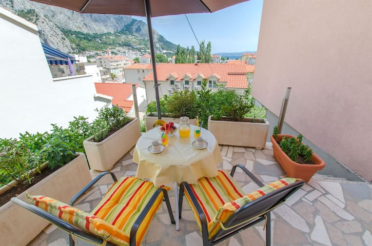 Studio Apartment, in Omis, Terrace