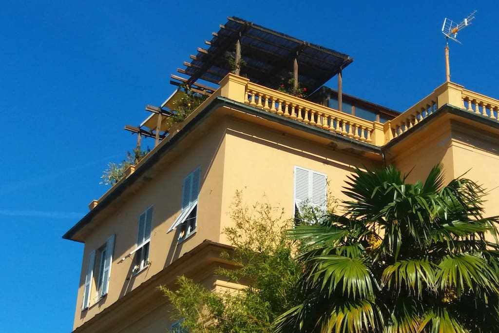 The villa - beginning 900. Our apartment is on the top floor