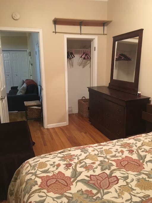 Bedroom Closet and dresser for organization
