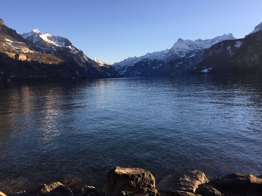 Brunnen - View of Lake Lucerne
