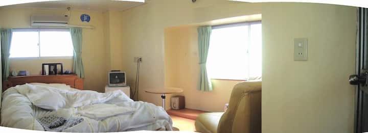 Semi-double room of Minsyuku Tatsuya Ryokan