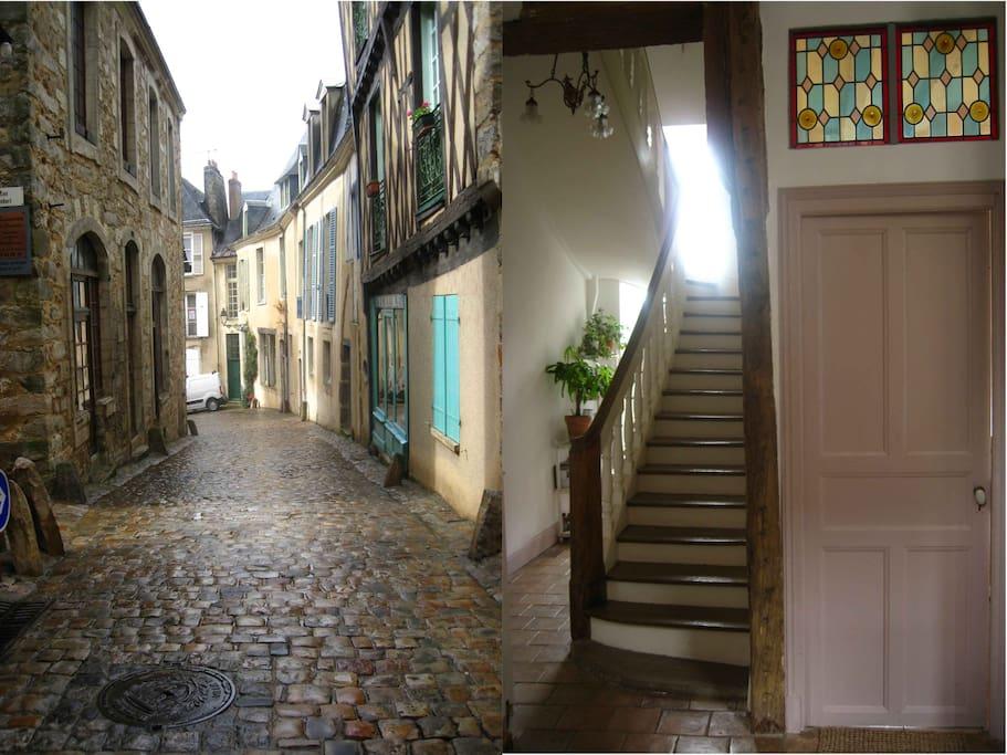 Rue et entrée