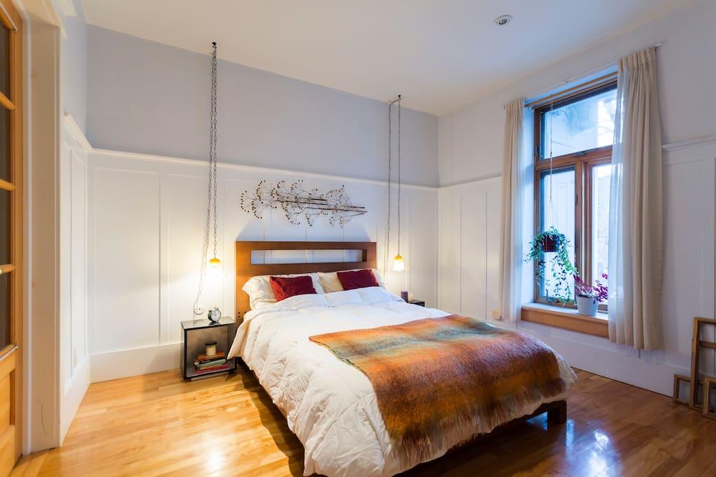 second floor bedroom with double bed
