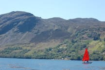 sailing across Lochbroom from Am Falachan