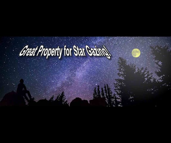 On clear nights the Heavens are ABLAZE with Stars. The views from the Property are SPECTACULAR! :)