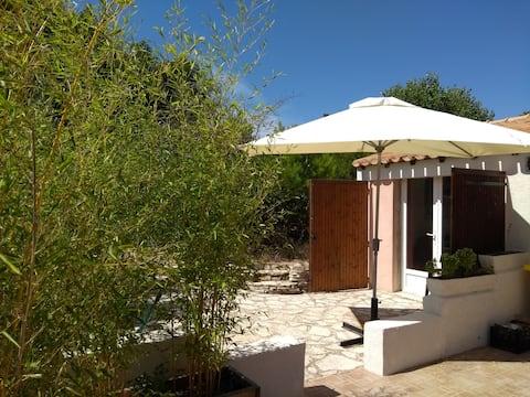 Sausset : Studio dans villa avec  piscine prox mer