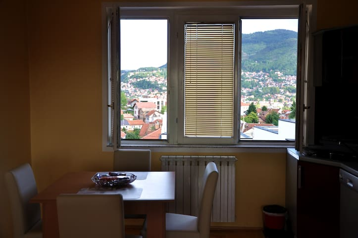 Amazing view from the kitchen