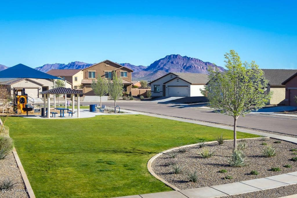 Scenic mountain views and park down the street
