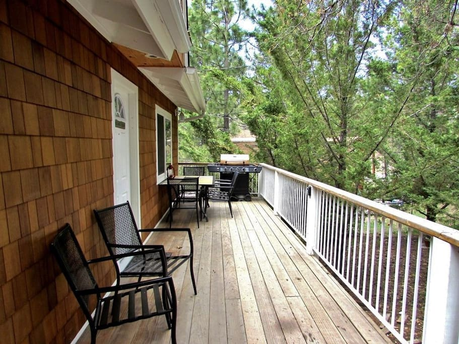 Front Deck Offering Patio Furniture and a Propane BBQ