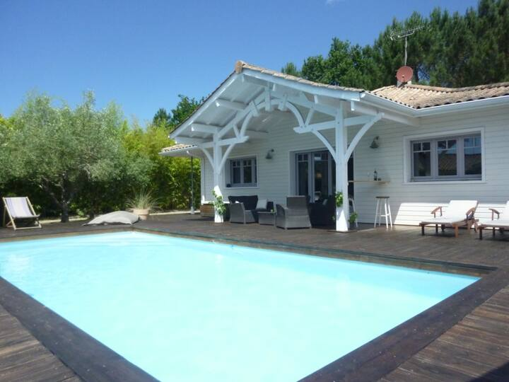 Maison piscine chauff proche océan Lège-Cap-Ferret