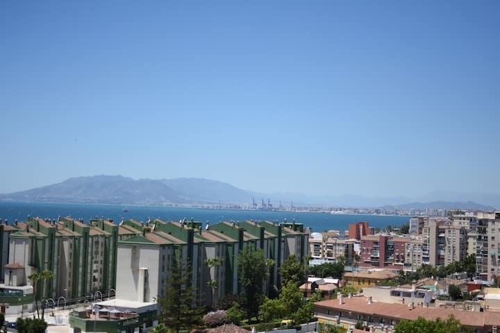 Loft En Málaga con vistas al mar