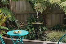 Use of the veranda over looking the pond, you may be joined by Lulu and Bonnie.  Enjoy the quite moment and you may pan for the day ahead.