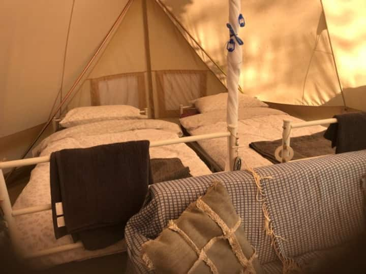 Beautiful Emperor tent in a tranquil place.