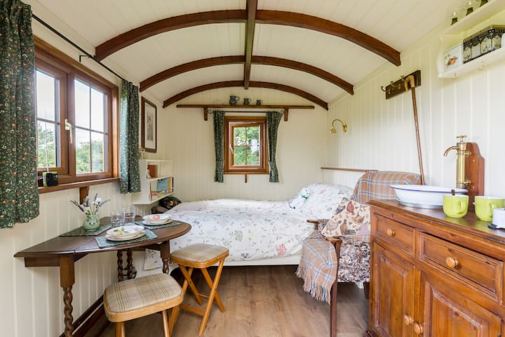 Broad Oak Shepherds Hut, deepest Worcestershire! - Hanley Castle - Annat