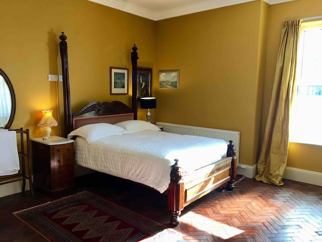 Magnificent king size room & in town & parking