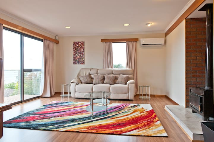 Bright and colourful living space