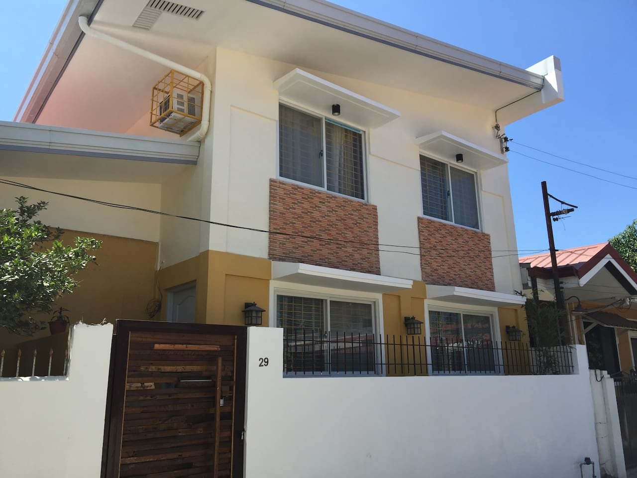 Facade of the newly-renovated duplex house