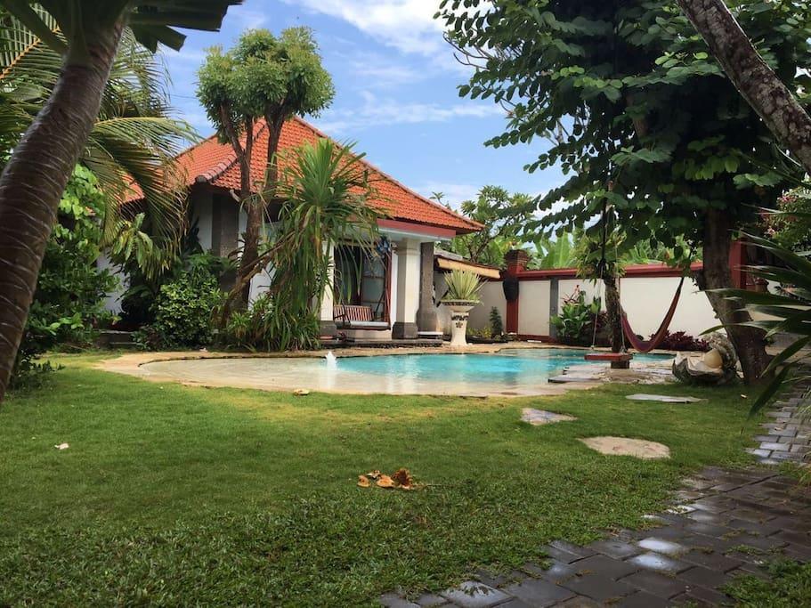 Poolside bungalow
