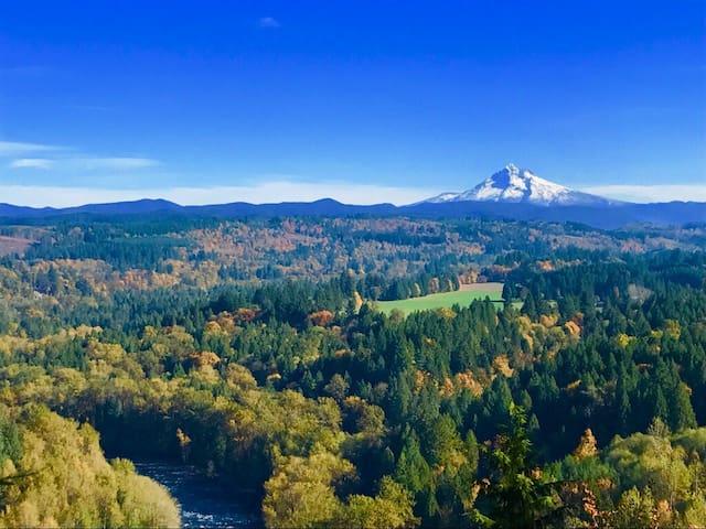 Scenic View Lodge (hot tub, sauna, INSPIRING view)